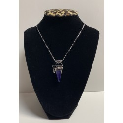 Tanzanite Crystal Necklace in Sterling Silver
